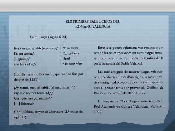 jarchas en lengua valenciana, jarchas valencianas