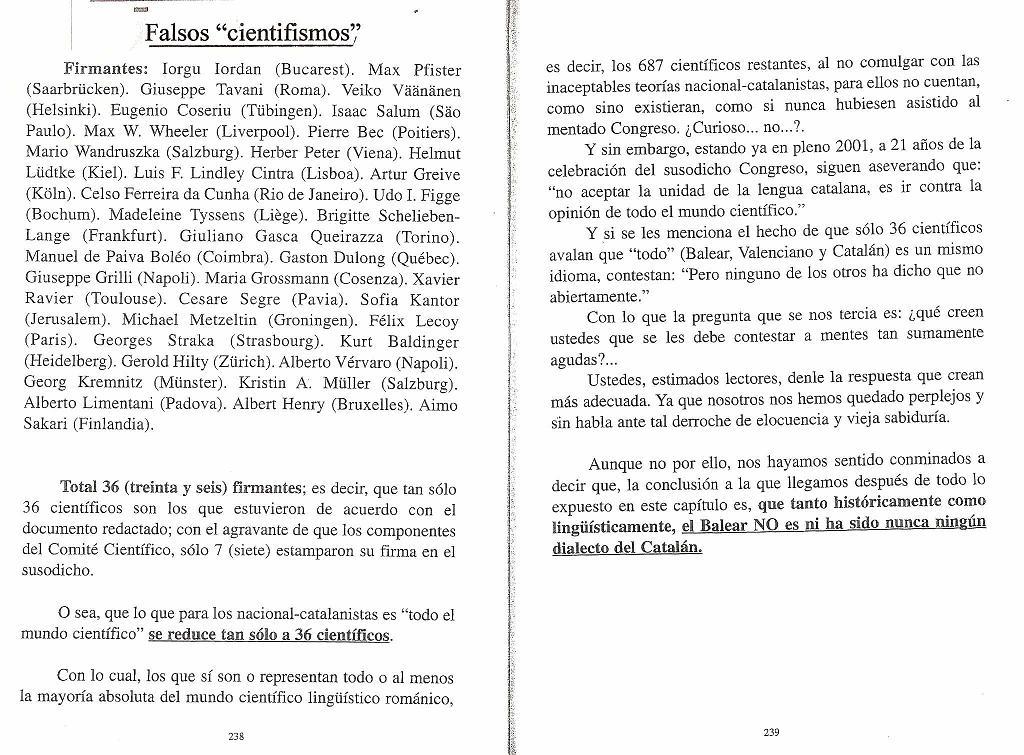 Actas congreso romanistica Mallorca, falsa unidad de las lenguas