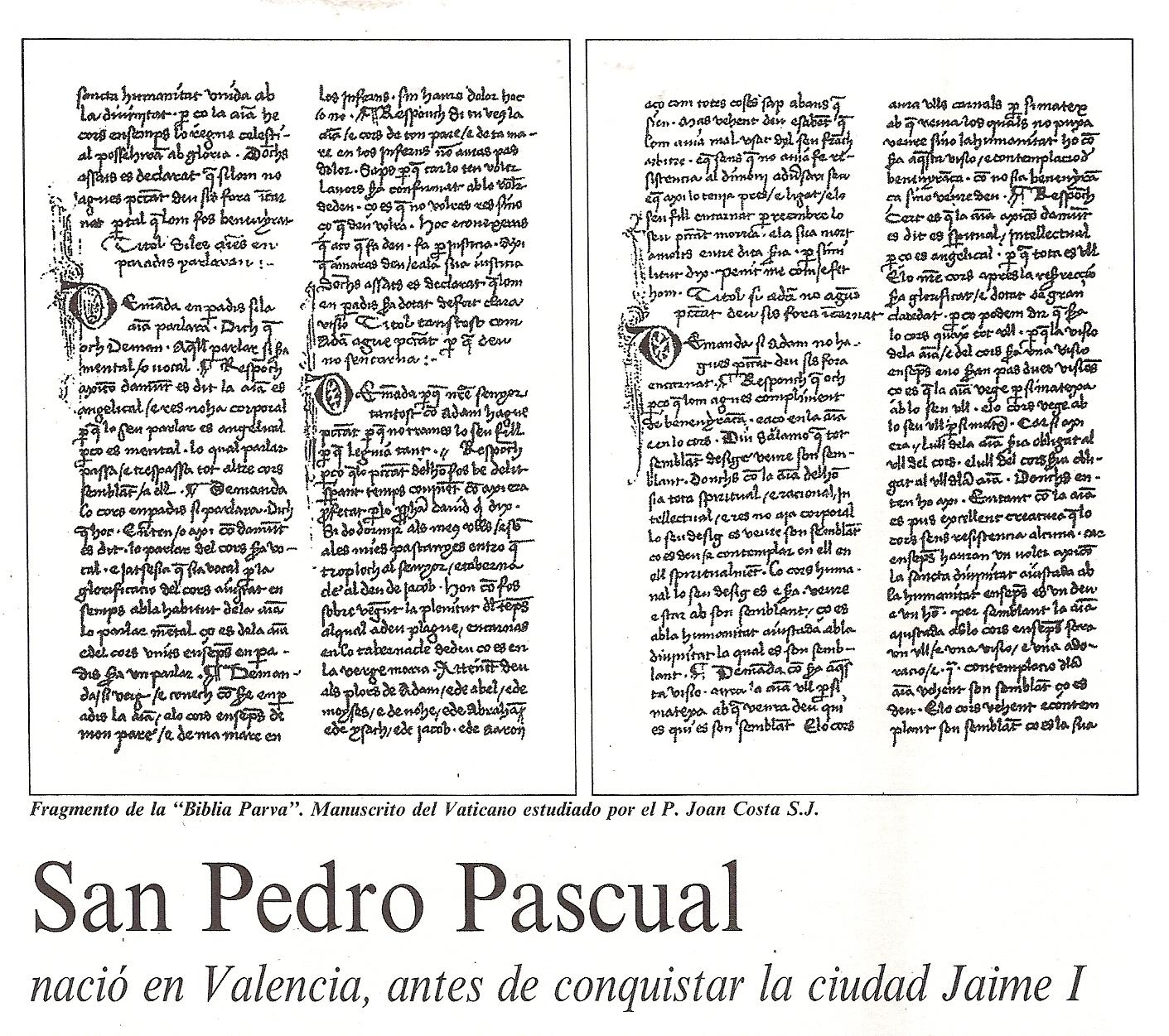 Biblia Parva, San Pedro Pascual